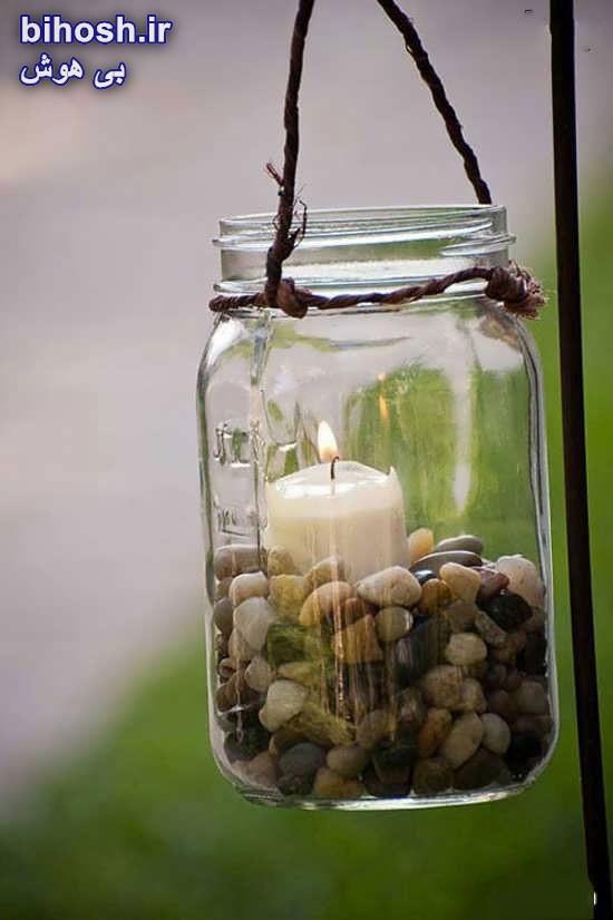 کاردستی با بطری شیشه ای با ایده ها و خلاقیت های زیبا