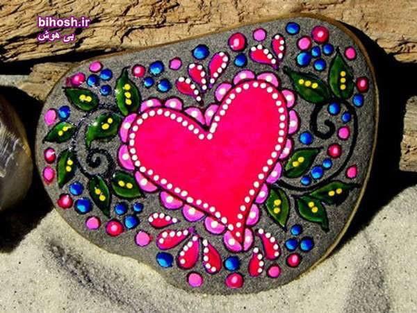 انواع خلاقیت نقاشی روی سنگها