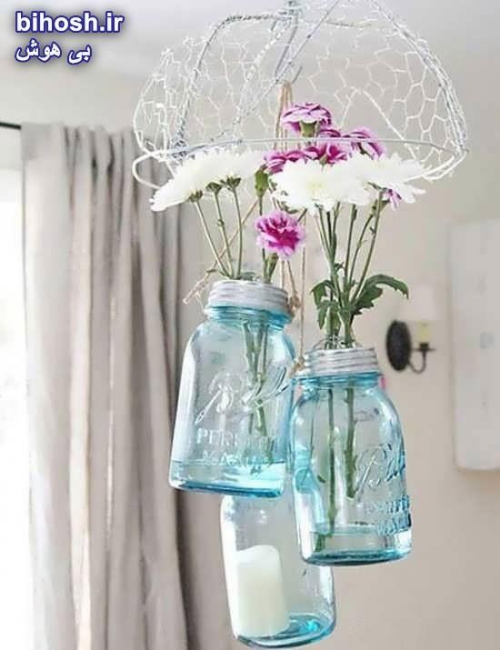 ساخت دکوری با استفاده از بطری شیشه ای