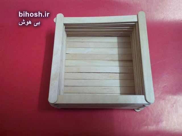 آموزش ساخت جعبه با چوب بستنی