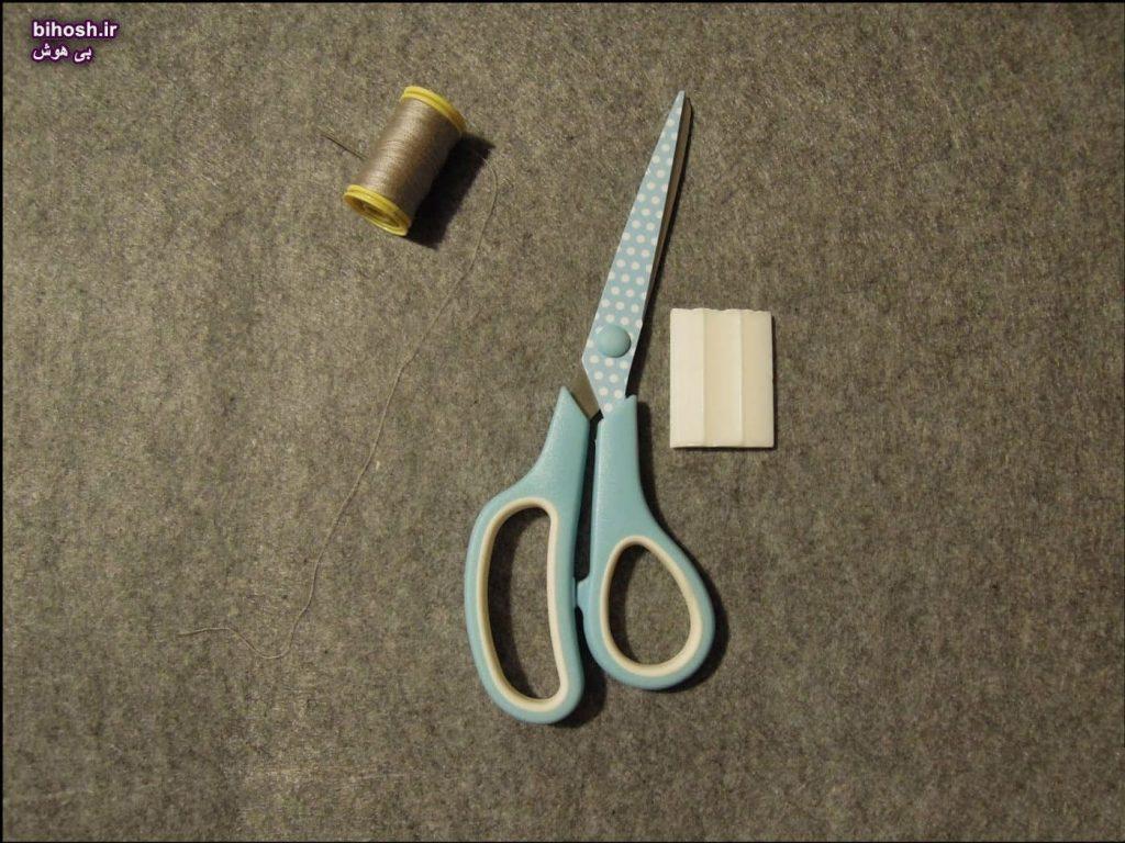 آموزش تصویری دوخت کیف دستی زنانه نمدی