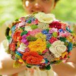 ساخت گل پفکی با کاموا بدون نیاز به قلاب و میل بافتنی