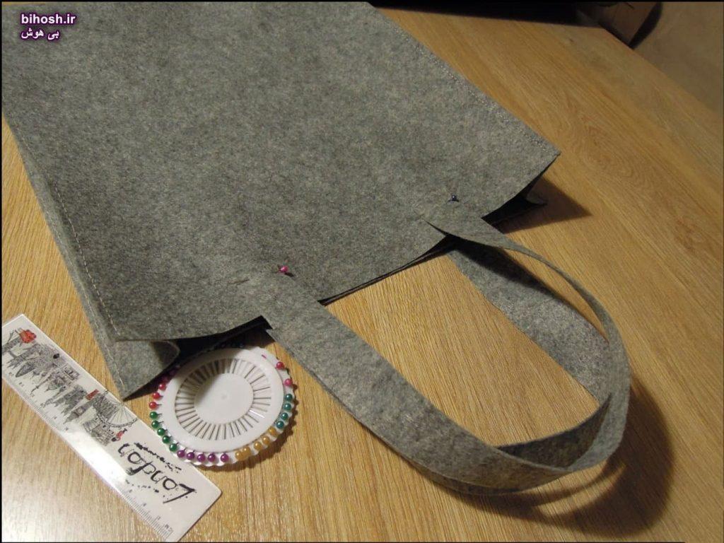 کیف دستی نمدی با الگو