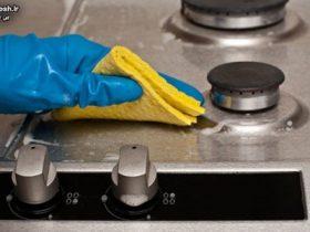 نحوه تمیز کردن گاز استیل