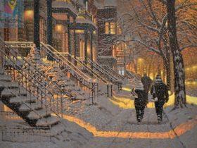 نقاشی برفی