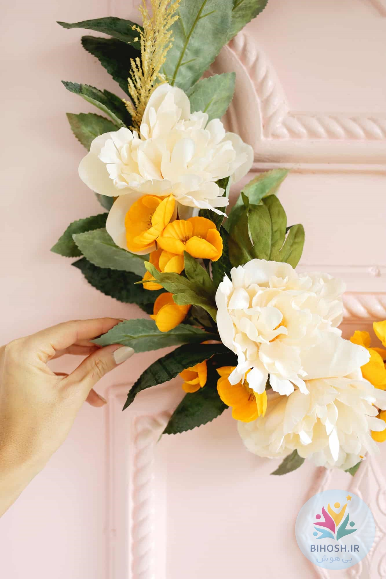 آموزش ساخت تاج گل حلقه ای مدرن