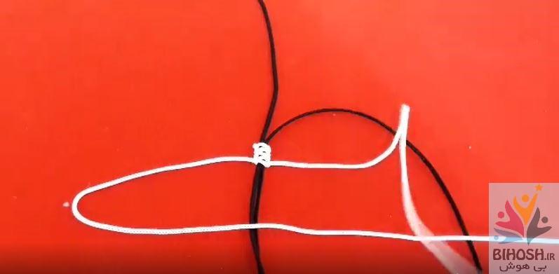 آموزش بافت دستبند با گره کشویی