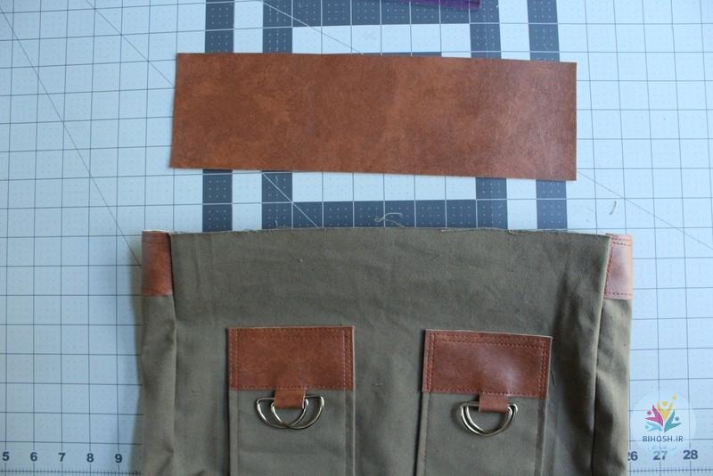 آموزش دوخت کیف دستی مردانه