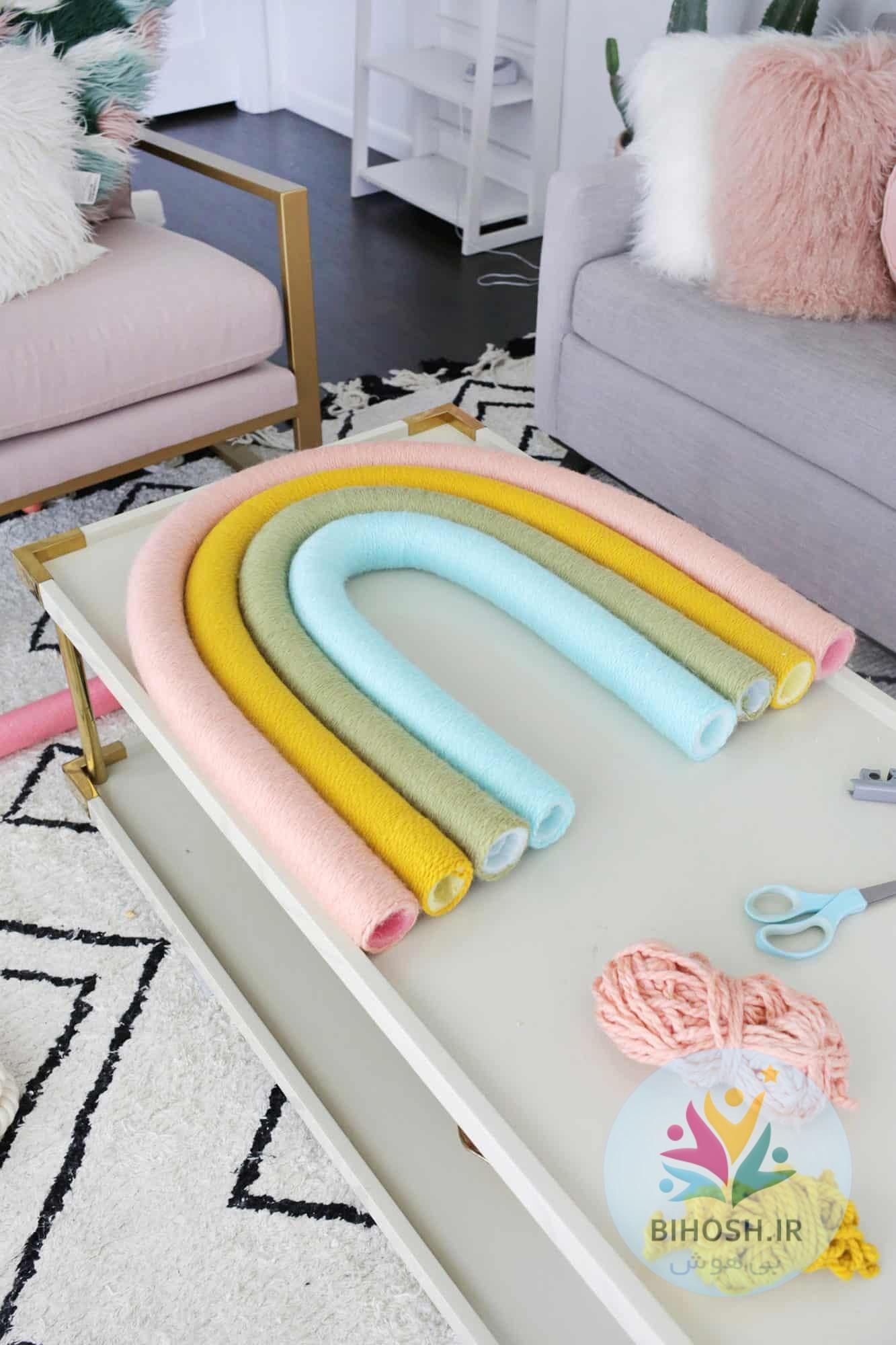 آموزش ساخت رنگین کمان برای اتاق بچه