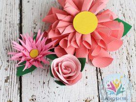آموزش ساخت گل های کاغذی