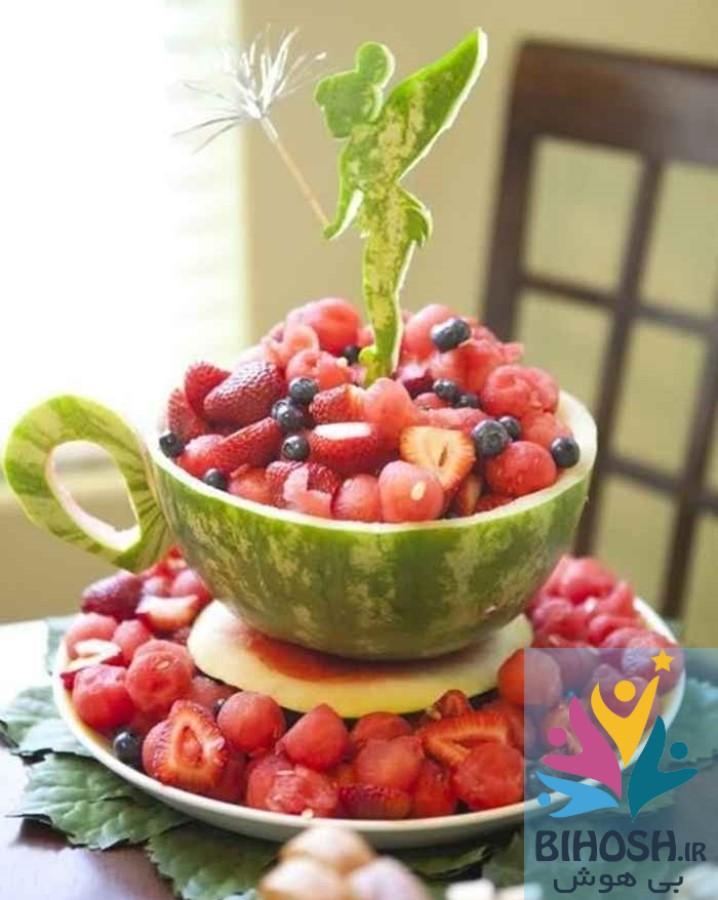 آموزش میوه آرایی سبد میوه با هندوانه