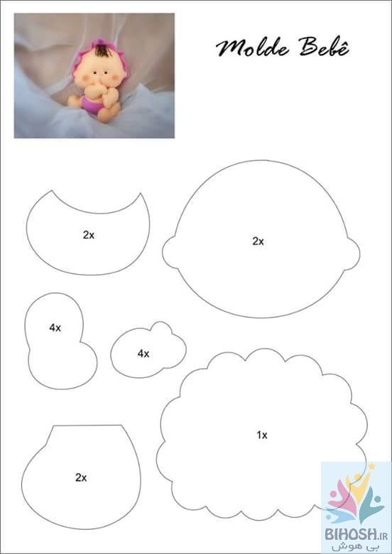 آموزش گیفت نمدی نوزاد + الگو