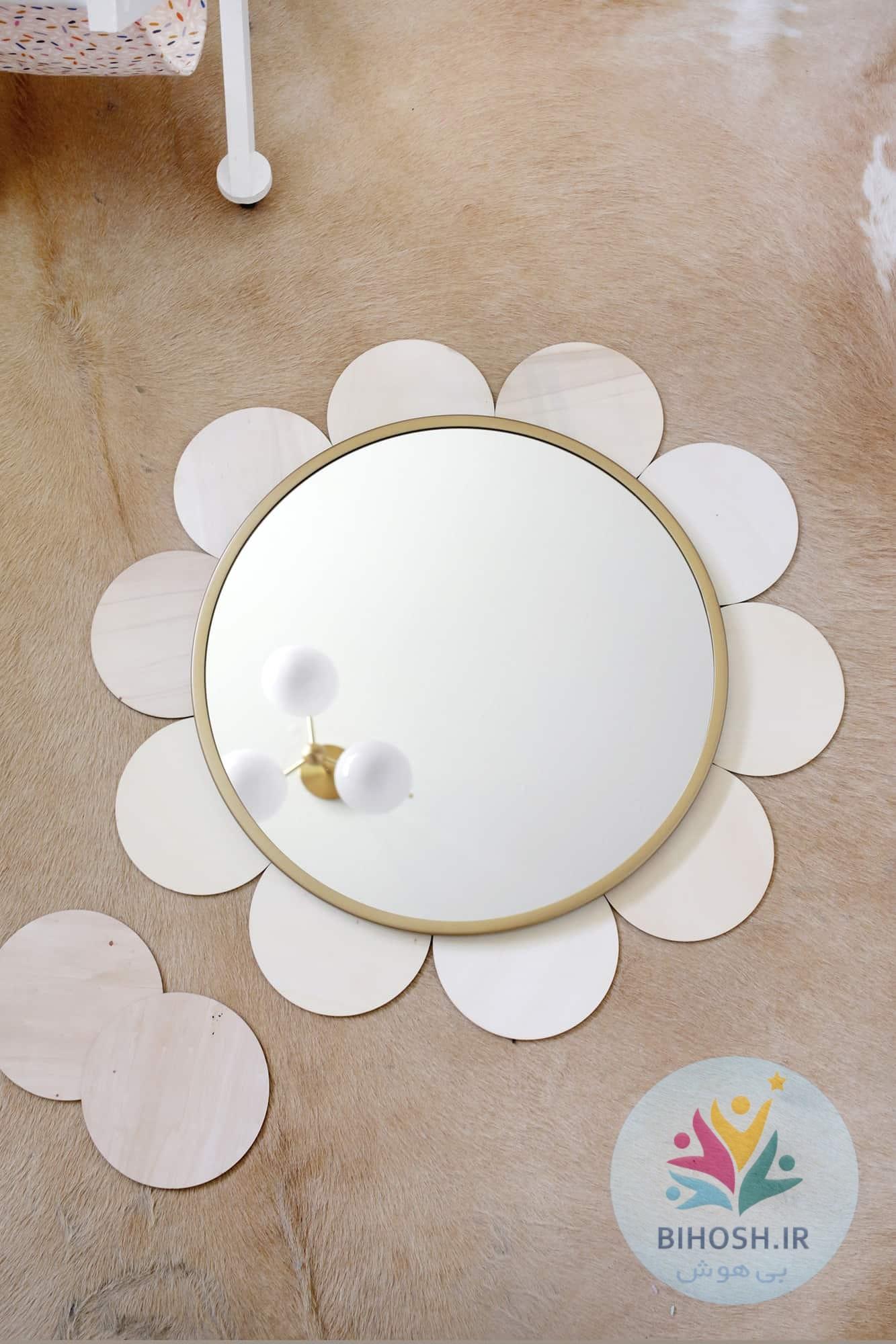آموزش ساخت آینه دکوراتیو گل