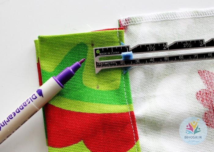 آموزش ساخت کیف هدیه پارچه ای