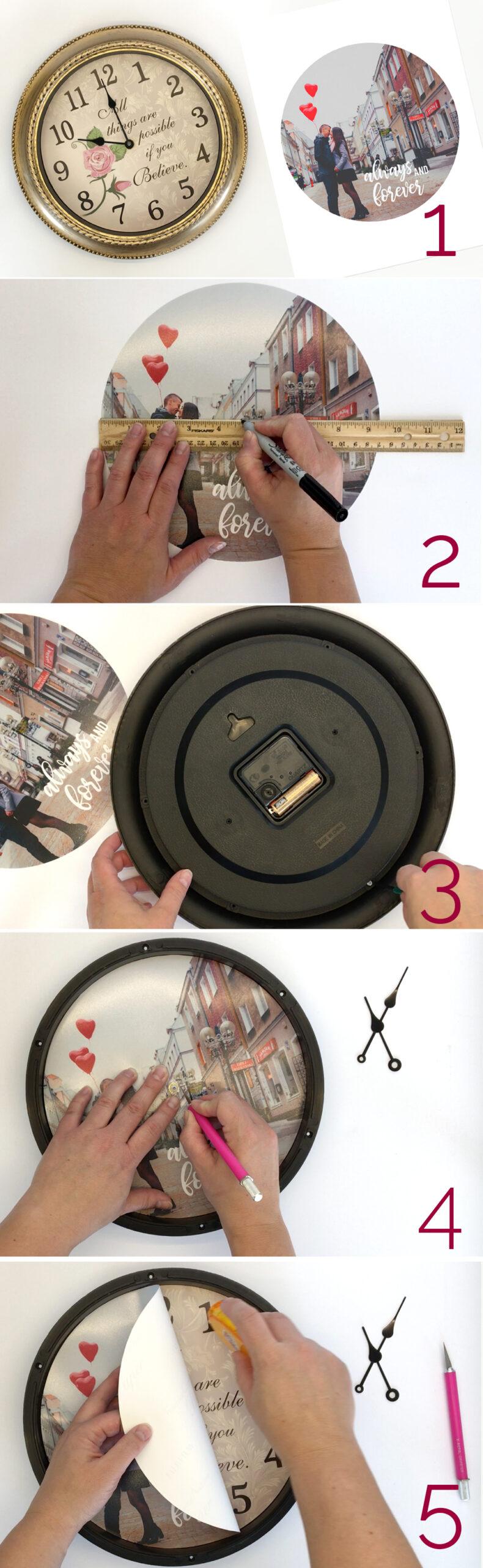 آموزش ساخت ساعت با عکس شخصی