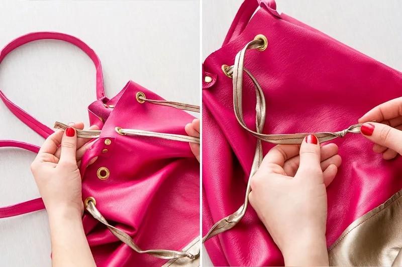 دوخت کیف چرمی کیسه ای