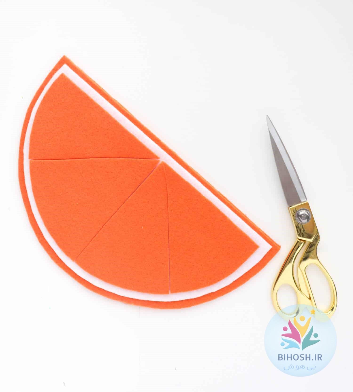 آموزش گام به گام کیف نمدی پرتقالی