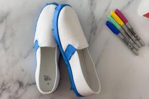 آموزش ساخت کفش رنگین کمانی