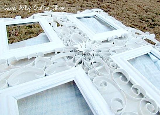 آموزش قاب عکس با ملیله کاغذی