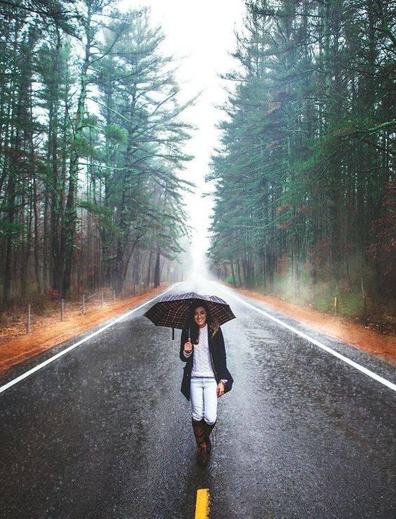 عکاسی در باران و هوای پاییزی