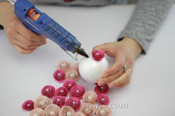 آموزش ساخت توپ گل کاغذی