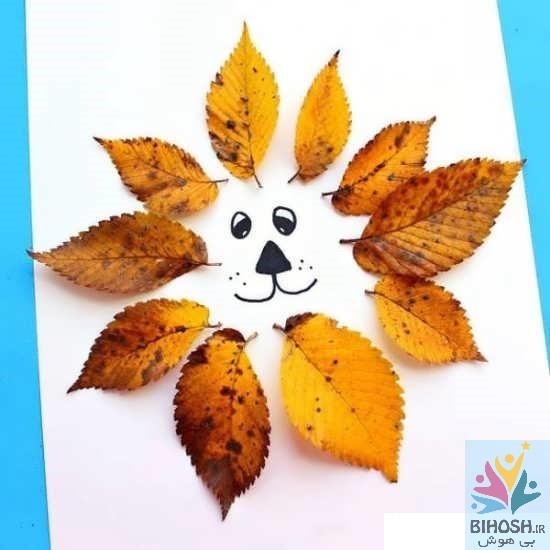 ساخت کاردستی با برگ پاییزی
