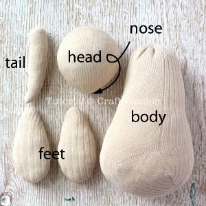 آموزش دوخت عروسک کانگورو